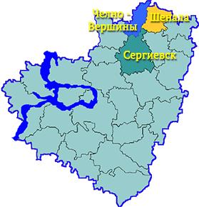 Карта Самарской обалсти